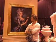 """Hey, it's @DerekHough! I'm taking over the #HGN Instagram today. Here I am admiring the art in @JaneLynchOfficial's house."""