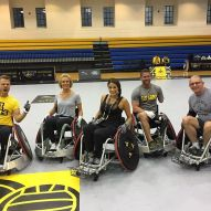 """Honored to play in the @invictustoronto Celebrity Wheelchair Rugby game! Invictus games is an international Paralympic sporting event, created by Prince Harry, in which wounded, injured or sick armed services take part in sports! 🥇🥈🥉 #InvictusGames #WoundedWarriors #IAm"" Courtesy bonniejill ig"