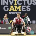 """@derekhough competes in the 2017 Invictus Games in a wheelchair for the Wheelchair Rugby Match for #TeamJaguar"" Courtesy thehollywoodpipeline ig"