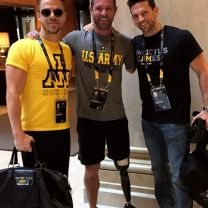 """Getting ready for the Wheelchair Rugby match for @invictustoronto. @markpulse @noahgallowayathlete"" Courtesy Derek's ig"