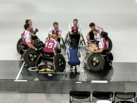 """@derekhough coaching his @InvictusToronto wheelchair rugby team! #invictus2017"" Courtesy @FisherHouseFdtn tw"