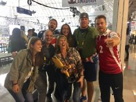 """Wheelchair Rugby Medal Games @InvictusToronto with Randi Gavell-Hobson, Richard, Kyle, my Erica & Haley, @derekhough & @ChefIrvine"" Courtesy @MiguelHoweMSI tw"