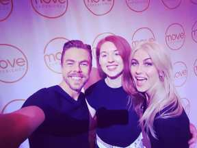 Creator of Belly Dance Network, Amanda, with Derek and Julianne Hough from Dancing With The Stars at today's LA event - Move Experience! We just had to add our belly dance spin onto the freestyle. ❤❤ @derekhough @juleshough What an amazing experience of dance, meditation, community and celebration. http://moveexperiencelive.com #dance #derekhough #losangeles #la #bellydance #bellydancenetwork #juliannehough #hollywood #usa #love #movement #dancingwiththestars #train #crosstrain Courtesy bellydancenetwork ig