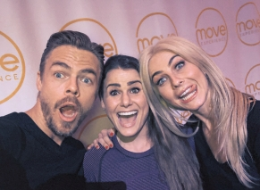 "Had THE most #soulfulsunday with @derekhough @juleshough at @moveexperience today! 8 hours of movement, dance, & soul strengthening inspiration! These two are just amazing humans💃✨ ""The fastest and most effective way to change the way you feel, is to change the way you #move"" #moveexperience #dance #fitness #fitmind #fitbody #inspiredlife Courtesy itsjessicaferguson ig"