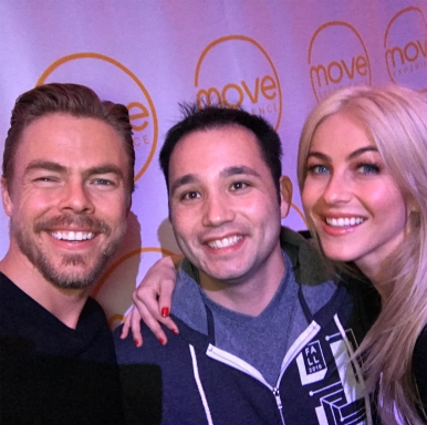 Sunday funday!!!!!!! With @juleshough and @derekhough @moveliveontour thank you guys so much for time, wisdom, inspiration, motivation!!!!!! Move live experience was amazing!!!!! A full day of movement, inspiration, and dance 💃 thank you guys for Sharing your day with me, deeply appreciate it!!!!! Also loved hanging out with your dad!!!!! See where all the positive vibe come from!!!!! Thank you again loved the whole experience!!!!! Great way to kick off 2018 Courtesy donovansur ig